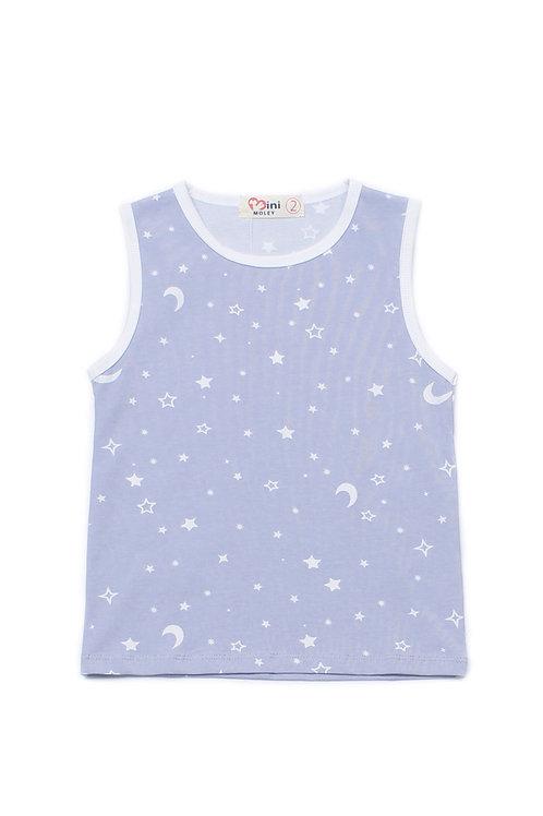 Stars and Moon Print Singlet GREY (Boy's Singlet)