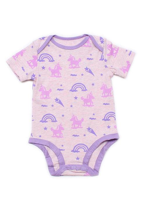 Unicorn Print Romper PINK (Baby Romper)