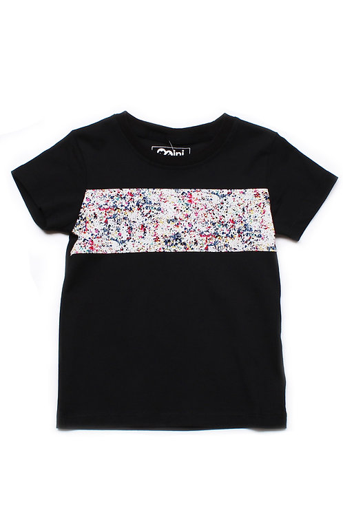 Design Print Panel T-Shirt BLACK (Boy's T-Shirt)