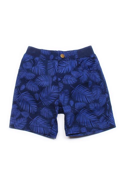 Botanical Print Shorts NAVY (Boy's Shorts)