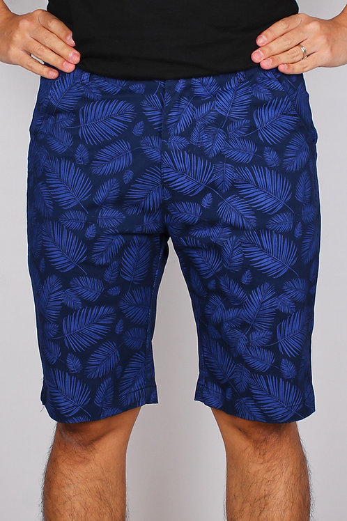 Botanical Print Bermudas NAVY (Men's Bottom)