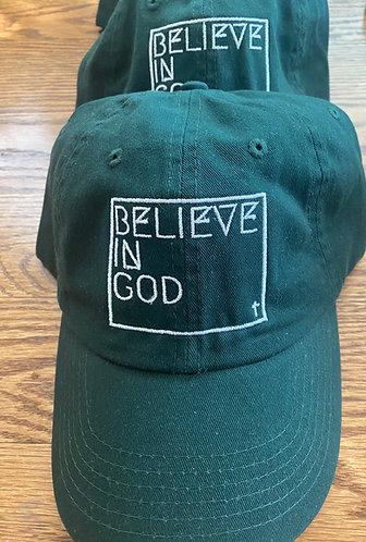 Believe In God Hat - Green w/White