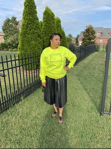Believe In God Sweatshirt - Safety Green w/Black