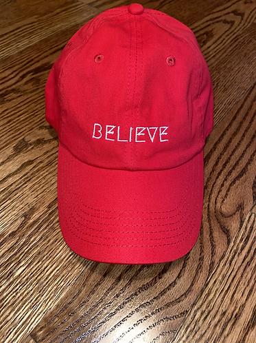 Believe Hat - Red