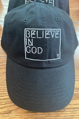 Believe In God Hat - Black w/White