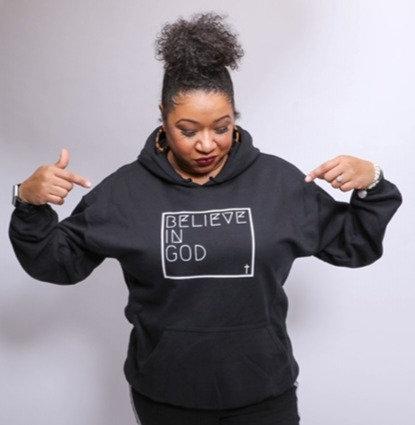 Believe In God Hoodie - Black
