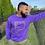 Thumbnail: Believe In God Sweatshirt - Purple w/Gold