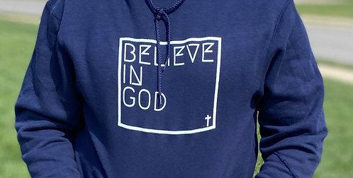 Believe In God Hoodie - Blue