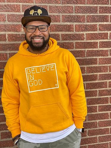 Believe In God Hoodie - Gold