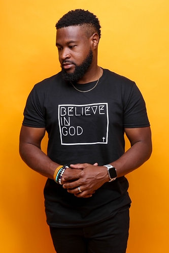 Believe In God - Black w/White