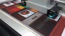 Large format digital printing on heavy duty magnetic vinyl