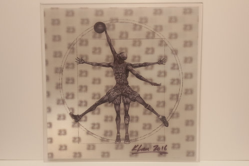 "Vitruvian Basketball 12""x12"""