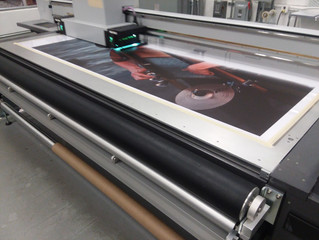 Large format digital printing on gesso coated canvas