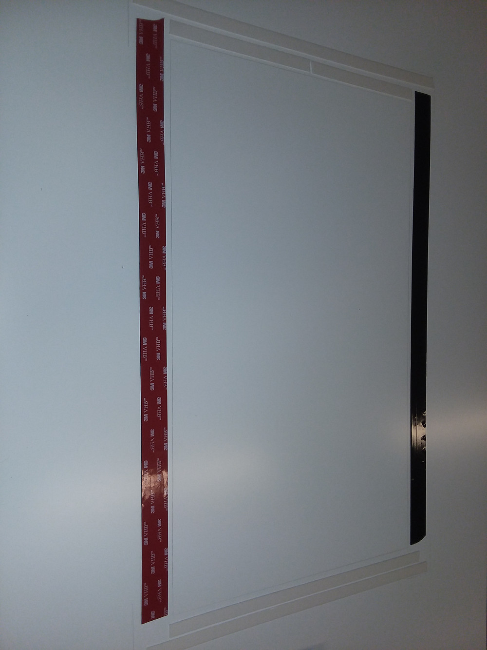 VHB tape is excellent for heavy panels
