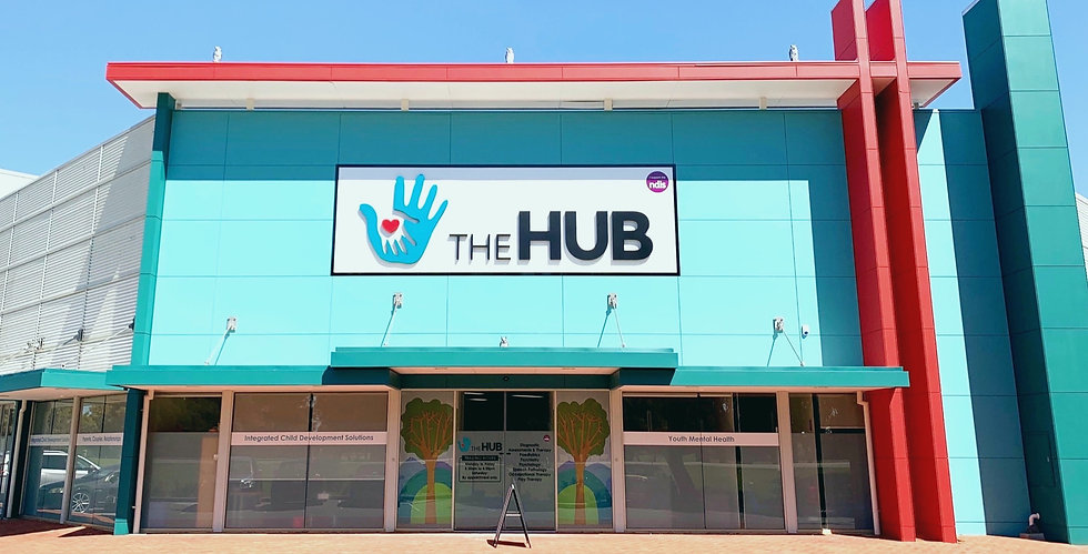 Front view of The Hub clinic