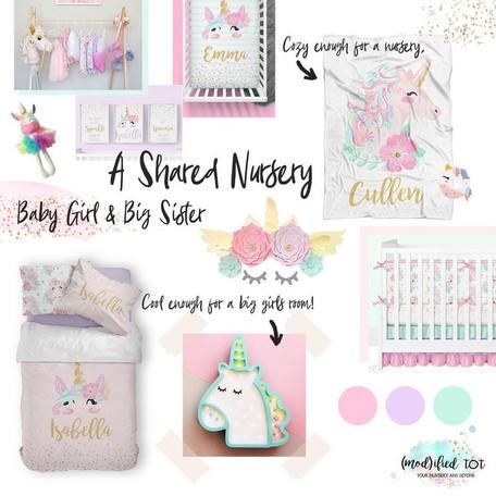Shared Nursery: Baby Girl & Big Sister