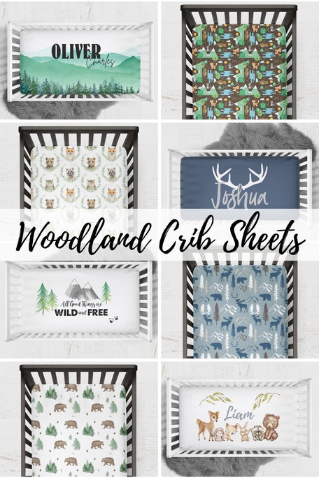 Crib Sheets for your Woodland Nursery