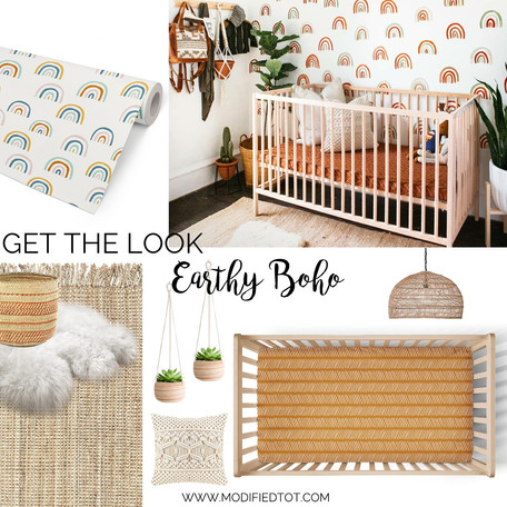 Get the Look: Earthy Boho Nursery