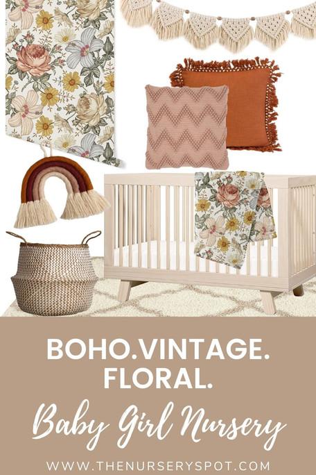 Nursery Design Board: Boho Vintage Floral