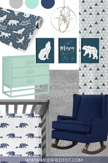 Nursery Design Board: Starry Night