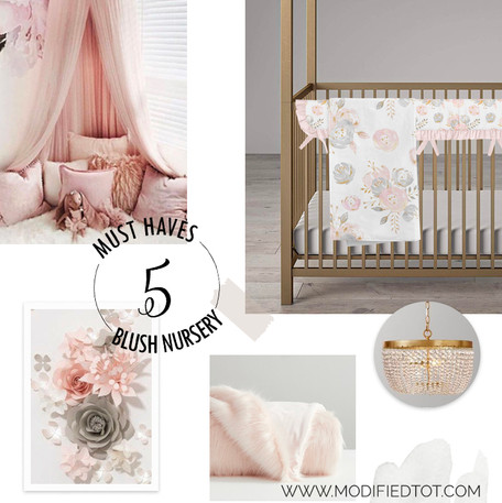 5 Must Haves for Your Romantic Blush Pink Nursery
