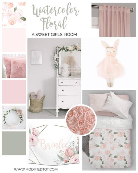 A Boho Floral Girls Room