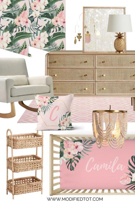 Nursery Design Board: Tropical Floral