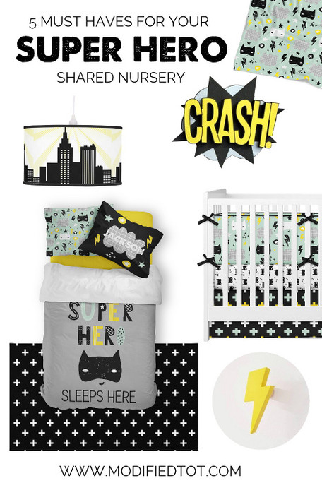 5 Must Haves for your Shared Super Hero Nursery