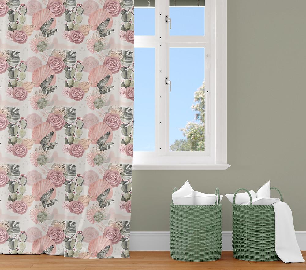 Floral Nursery Curtains