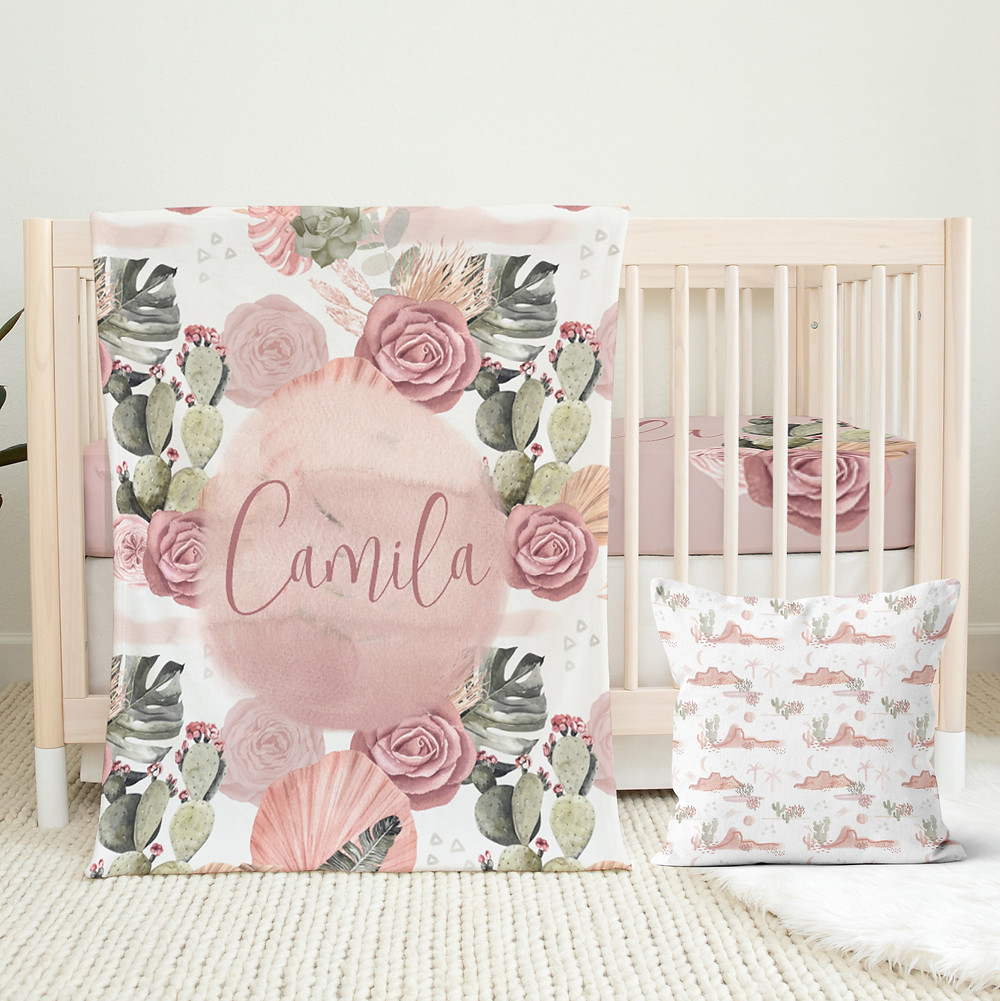 Floral Crib Bedding Set