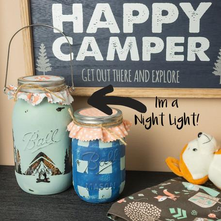 DIY Mason Jar Nursery Lamp