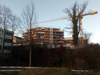 neue Überbauung in Wollerau