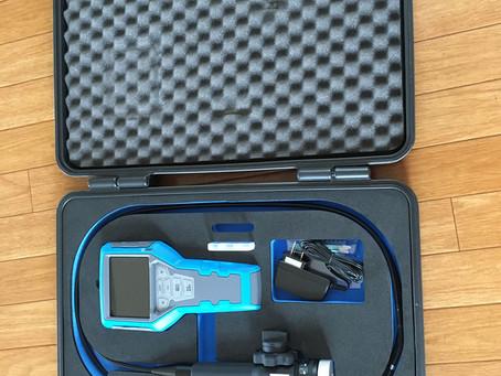 先端径5.8ミリ 極細ビデオスコープによる調査