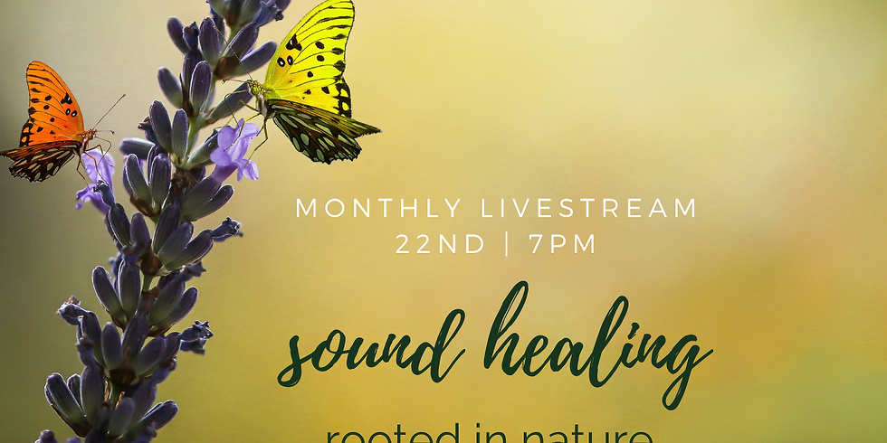 Monthly Sound Healing Rooted in Nature