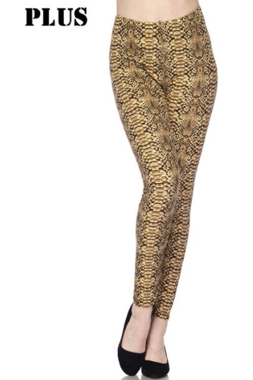 Plus Leggings - Snake Print