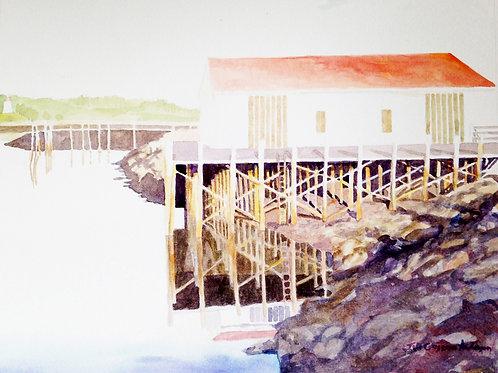 White Lubec Harbor