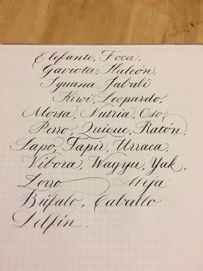 TALLER DE CALIGRAFIA INGLESA Ejercicios base para aprender la técnica de escritura