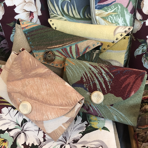 Vintage Barkcloth Purses