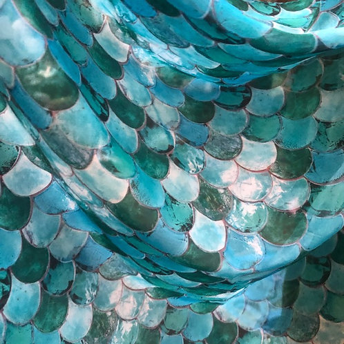 Sheer Mermaid Scale Sarong