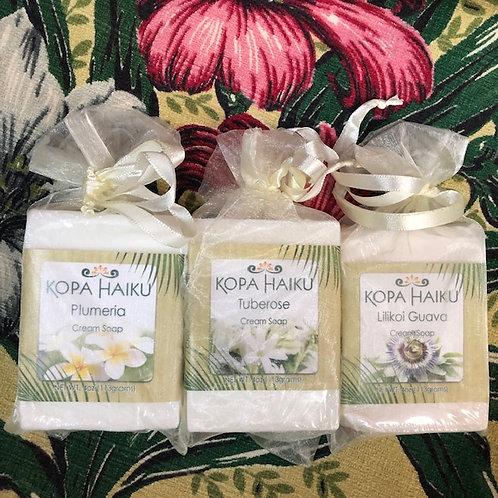 3 Creamy Hawaiian bath soaps