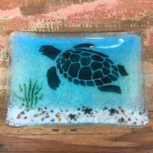 Glass Turtle Soap Dish