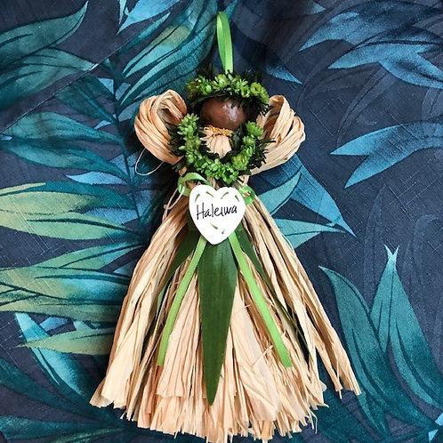 Handmade Hawaiian Angel Ornament