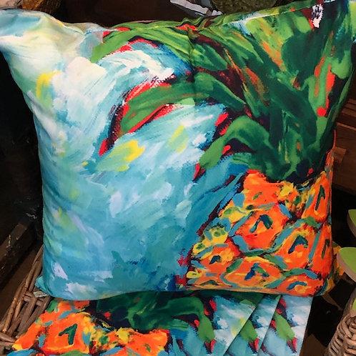 """Pineapple Art Pillow 18""""18"""""""