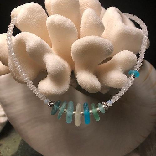 """North Shore Sea Glass Necklace - 19"""""""
