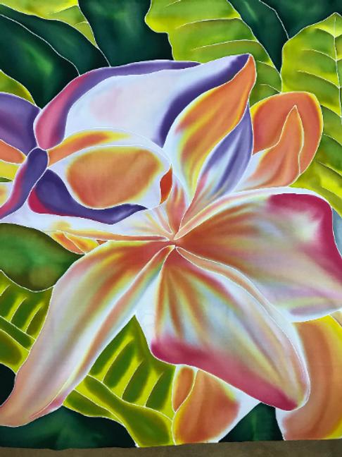 Tropical Hawaiian Plant Sarong