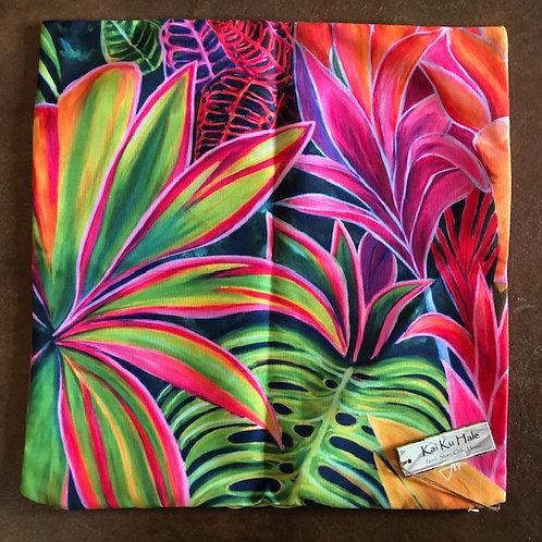 Hawaiian Ti Leaf Art pillow case