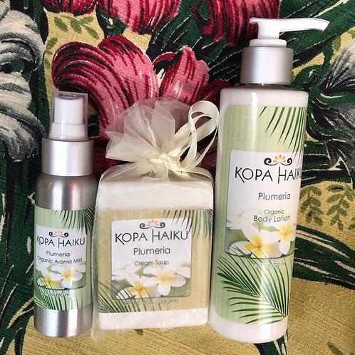 Plumeria Bath Product Set