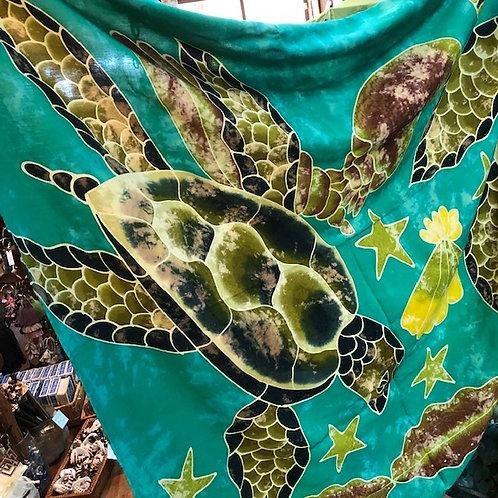 Green Sea Turtle sarong