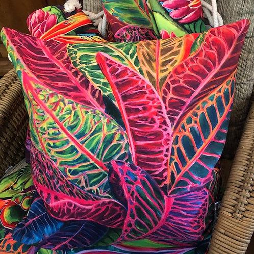Hawaiian Croton Plant - Art pillow cover