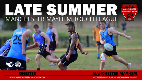 LATE SUMMER Touch League 2021 – Open for Entry
